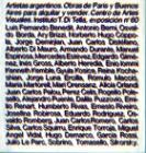 Artistas Argentinos. Obras de París y Buenos Aires para alquilar y vender. Centro de Artes visuales. Instituto Di Tella. Exposición N° 60