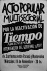 Por la reactivación de Tiempo Argentino