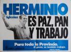 Herminio Iglesias es paz, pan y trabajo