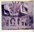 Murales con fotocopias para colorear, iniciativa de Gastar/Capataco en el Día internacional de la Mujer.